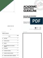 FSSR Academic Writing Guideline