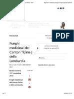 Funghi medicinali del Canton Ticino e della Lombardia - Vivere la montagna - Rivista