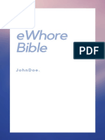eWhore Bible v0.1