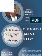 ON HIS BLINDNESS | POEM FOR CLASS XII STUDENTS | UP BOARD