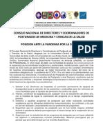 CONSEJO NACIONAL DE DIRECTORES DE POSTGRADO.