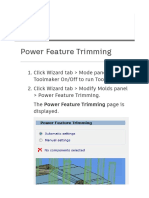 Powershape Power Feature Trimming Concept