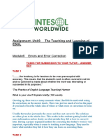 English - 180 Hour Unit 3 Module 5