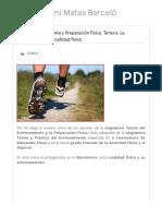 Teoría Entrenamiento y Preparación Física. Tema 9. La Resistencia como cualidad física. – Toni Matas Barceló