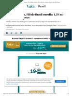 Com pandemia, PIB do Brasil encolhe 1,5% no primeiro trimestre _ Brasil _ Valor Econômico