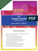 IMOYA 2017 Senior