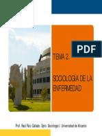 TEMA 2. SOCIOLOGÍA DE LA ENFERMEDAD