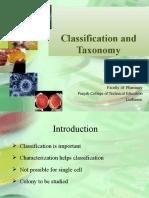 Classificaton and taxonomy