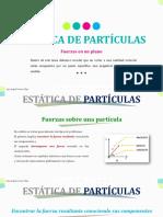 ESTÁTICA DE PARTÍCULAS