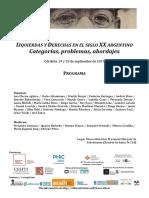 Izquierdas y derechas en el siglo XX argentino  - PROGRAMA.pdf