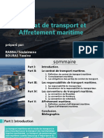 Contrat de transport et Affretement maritime