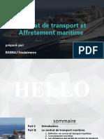 Contrat de transport et Affretement maritime