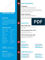 Download 15 Template CV Word Gratis Blue Word Resume