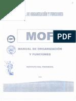 MANUAL DE ORGANIZACION Y FUNCIONES MOF del IVP