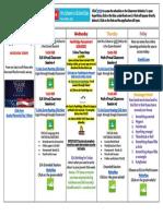 schearer schedule week 8
