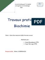 tp de biochimie