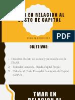 TMAR EN RELACION AL COSTO DE CAPITAL.pptx