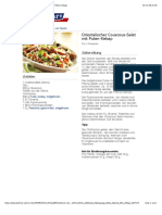 Bofrost* Rezepte - Orientalischer Couscous-Salat Mit Puten-Kebap