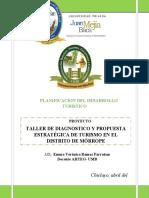 TALLER DE DIAGNOSTICO Y PROPUESTA  MORROPE TURISMO