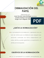 Normalización y rotulado del papel