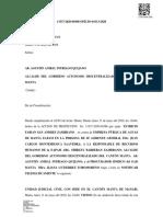 OFICIO DE NOTIFICACION DE AUDIENCIA DE ACCION DE PROTECCION AL SR ALCALDE DEL GAD MANTA