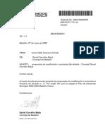 Propuestas de Modificación o Enmienda 2do Debate - Concejal Daniel Carvalho