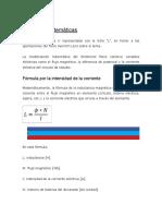 INDUCTANCIA- Fórmulas matemáticas