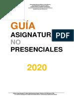 GUÍA  DE ASINATURAS NO PRESENCIALES
