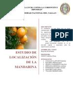 ESTUDIO DE LOCALIZACION DE LA MANDARINA