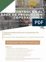 9. Control en el área de Producción