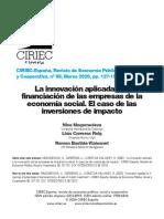 FINANZAS INVERSIONES DE IMPACTO