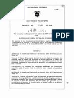 Decreto 2450 de 2008 (chatarrizacion)