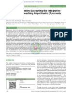 Ayurveda education- Evaluating the integrative approaches of teaching Kriya Sharira (Ayurveda physiology)