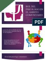 rol del psicologo comunitario