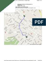 Mappa dall Stazione Termini a via Buonarroti 12