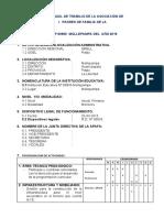 PLAN ANUAL DE TRABAJO DE LA ASOCIACIÓN DE PADRES DE FAMILIA