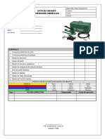 021 - Lista de Chequeo. Curvadora hidraulica