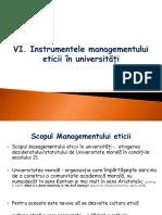 Curs 6 Managementul Eticii În Universități - Instrumente