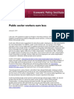 Public sector workers earn less
