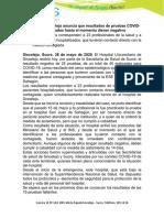 Boletín de prensa, HUS-29/05/2020