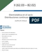 Clase 02 Electrostática en el vacío - Distribuciones continuas v5.1.pdf