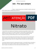 Teste de Nitrato - Por que sempre fazer_