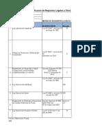 MATRIZ DE REQUISITOS LEGALES ISO 9001 OC METALS