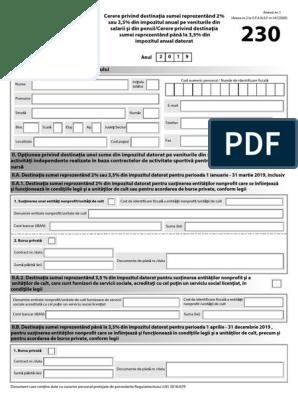 Formular 230 - Donatie Alte Venituri -  2 Ani