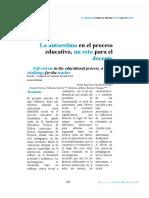 AUTOESTIMA EN EL PROCESO EDUCATIVO
