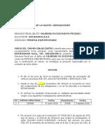 DENUNCIA FALSEDAD DE DOCUMENTO PRIVADO