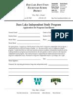 long-term independent study program application form