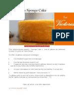 Le Victoria Sponge Cake