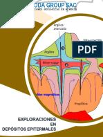 CAJ. Exploraciones en depósitos epitermales.