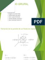 Variación de la presión de un fluido en (1)